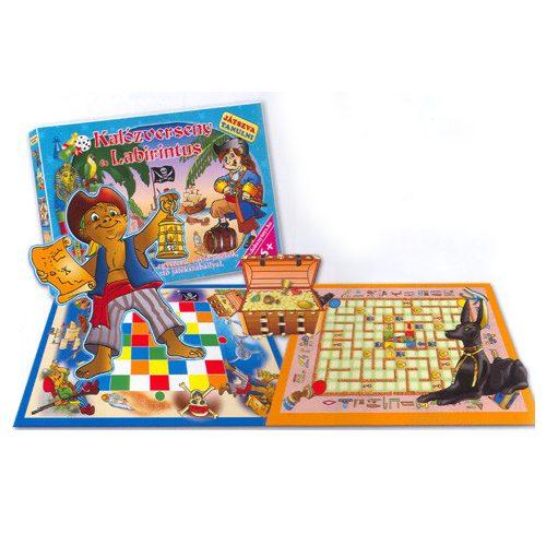 Kalózverseny és Labirintus készségfejlesztő társasjáték – D-Toys