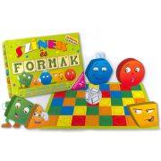 Színek és formák készségfejlesztő társasjáték – D-Toys