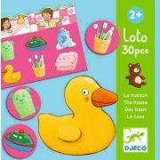 Lottóház - Lotto of the house - kép és nyelvi asszociációs játék