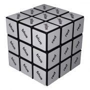 Rubik 3x3 szövegkocka, fekete