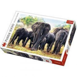 Afrikai elefántok 1000db-os prémium puzzle