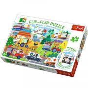 Jármûvek 36db-os Flip-Flap nyitogatós puzzle