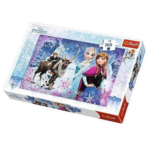 Jégvarázs: Kristoff, Sven és a hercegnõk 160 db-os puzzle