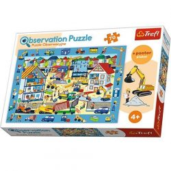 Építkezés látogatás megfigyelõ puzzle 70db-os