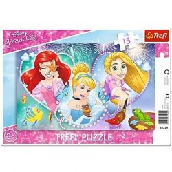Disney Hercegnõk: Mosolygós hercegnõk 15db-os puzzle
