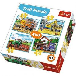 Munkagépek 4 az 1-ben puzzle szett