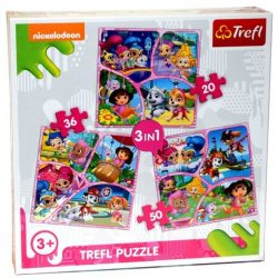 Nickelodeon Junior 3 az 1-ben puzzle