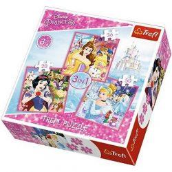 Disney hercegnõk 3 az 1-ben puzzle