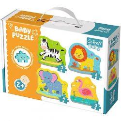 Szafari állatok bébi puzzle szett