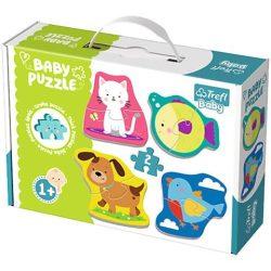 Kisállatok bébi puzzle szett