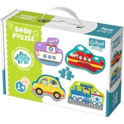 Jármûvek bébi puzzle szett