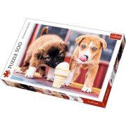 Fagyizó kutyakölykök 500db-os prémium puzzle