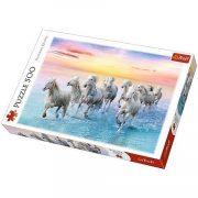 Galoppozó fehér lovak 500db-os puzzle