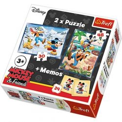 Mickey Egér puzzle és memóriajáték